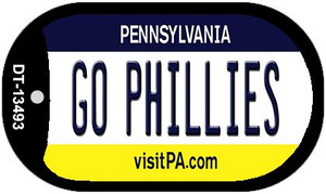 Go Phillies Wholesale Novelty Metal Dog Tag Necklace DT-13493