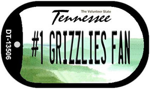 Number 1 Grizzlies Fan Wholesale Novelty Metal Dog Tag Necklace DT-13506