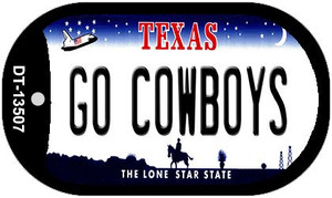Go Cowboys Wholesale Novelty Metal Dog Tag Necklace DT-13507