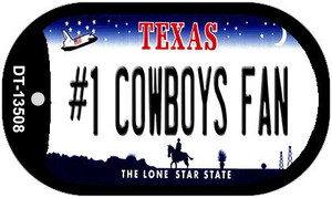 Number 1 Cowboys Fan Wholesale Novelty Metal Dog Tag Necklace DT-13508