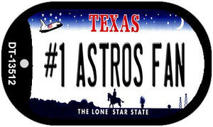 Number 1 Astros Fan Wholesale Novelty Metal Dog Tag Necklace DT-13512