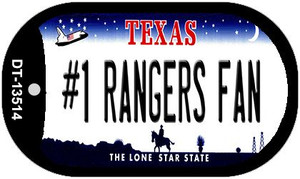 Number 1 Rangers Fan Wholesale Novelty Metal Dog Tag Necklace DT-13514