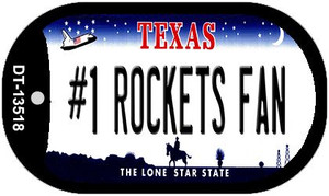 Number 1 Rockets Fan Wholesale Novelty Metal Dog Tag Necklace DT-13518