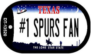 Number 1 Spurs Fan Wholesale Novelty Metal Dog Tag Necklace DT-13520