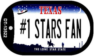 Number 1 Stars Fan Wholesale Novelty Metal Dog Tag Necklace DT-13522