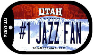 Number 1 Jazz Fan Wholesale Novelty Metal Dog Tag Necklace DT-13524