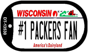 Number 1 Packers Fan Wholesale Novelty Metal Dog Tag Necklace DT-13530