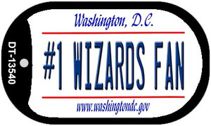 Number 1 Wizards Fan Wholesale Novelty Metal Dog Tag Necklace DT-13540