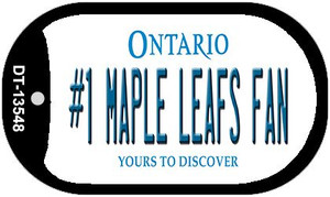 Number 1 Maple Leafs Fan Wholesale Novelty Metal Dog Tag Necklace DT-13548