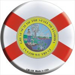 Florida State Flag Wholesale Novelty Metal Mini Circle Magnet CM-108