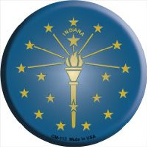 Indiana State Flag Wholesale Novelty Metal Mini Circle Magnet CM-113