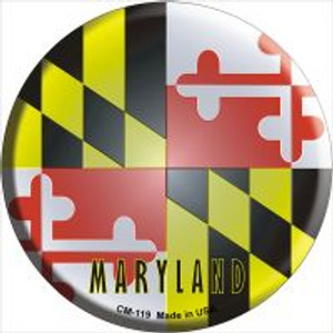 Maryland State Flag Wholesale Novelty Metal Mini Circle Magnet CM-119