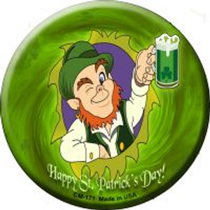 Happy St. Patricks Day Wholesale Novelty Metal Mini Circle Magnet CM-171