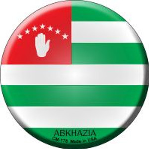 Abkhazia Country Wholesale Novelty Metal Mini Circle Magnet CM-178