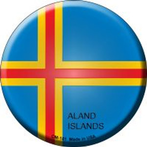 Aland Islands Country Wholesale Novelty Metal Mini Circle Magnet CM-181