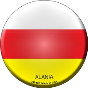 Alania Country Wholesale Novelty Metal Mini Circle Magnet CM-182