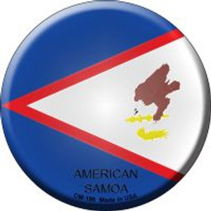 American Samoa Country Wholesale Novelty Metal Mini Circle Magnet CM-186