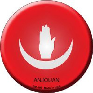 Anjouan Country Wholesale Novelty Metal Mini Circle Magnet CM-190