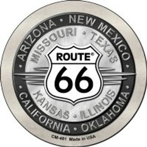 Route 66 States Wholesale Novelty Metal Mini Circle Magnet CM-481