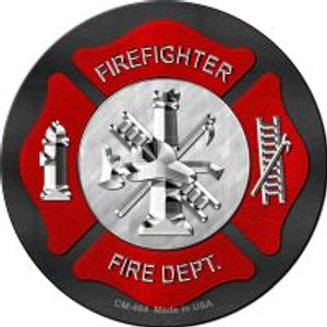 Firefighter Wholesale Novelty Metal Mini Circle Magnet CM-484