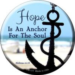 Hope Anchor For Soul Wholesale Novelty Metal Mini Circle Magnet CM-177