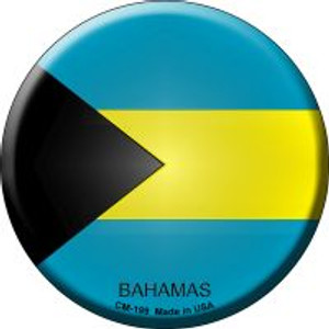 Bahamas Country Wholesale Novelty Metal Mini Circle Magnet CM-199