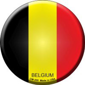 Belgium Country Wholesale Novelty Metal Mini Circle Magnet CM-205