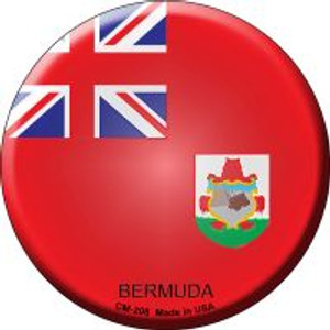 Bermuda Country Wholesale Novelty Metal Mini Circle Magnet CM-208