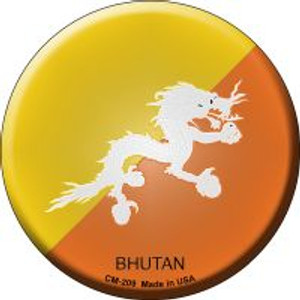 Bhutan Country Wholesale Novelty Metal Mini Circle Magnet CM-209