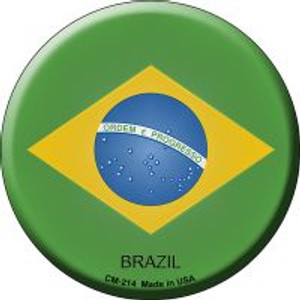 Brazil Country Wholesale Novelty Metal Mini Circle Magnet CM-214
