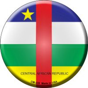 Central African Republic Country Wholesale Novelty Metal Mini Circle Magnet CM-228
