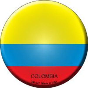 Colombia Country Wholesale Novelty Metal Mini Circle Magnet CM-237