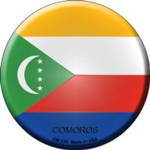 Comoros Country Wholesale Novelty Metal Mini Circle Magnet CM-238