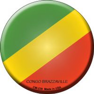 Congo Brazzaville Country Wholesale Novelty Metal Mini Circle Magnet CM-239