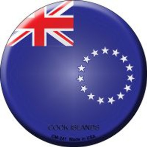 Cook Islands Country Wholesale Novelty Metal Mini Circle Magnet CM-241