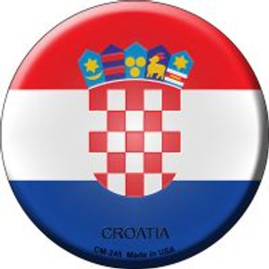 Croatia Country Wholesale Novelty Metal Mini Circle Magnet CM-245