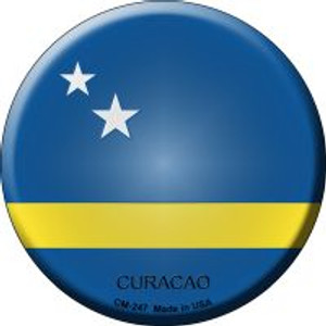 Curacao Country Wholesale Novelty Metal Mini Circle Magnet CM-247