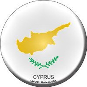 Cyprus Country Wholesale Novelty Metal Mini Circle Magnet CM-248