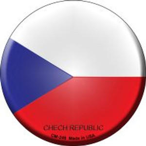 Chech Republic Country Wholesale Novelty Metal Mini Circle Magnet CM-249