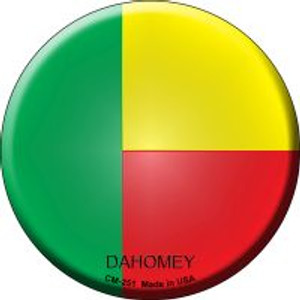 Dahomey Country Wholesale Novelty Metal Mini Circle Magnet CM-251