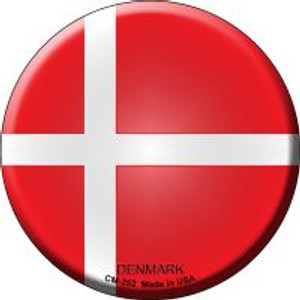 Denmark Country Wholesale Novelty Metal Mini Circle Magnet CM-252