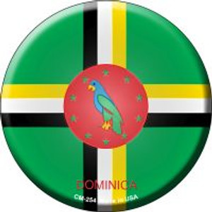 Dominica Country Wholesale Novelty Metal Mini Circle Magnet CM-254