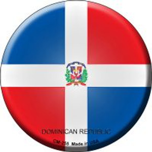 Dominican Republic Country Wholesale Novelty Metal Mini Circle Magnet CM-255