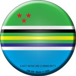 East African Community Country Wholesale Novelty Metal Mini Circle Magnet CM-256