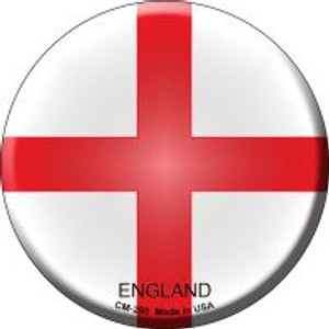 England Country Wholesale Novelty Metal Mini Circle Magnet CM-260