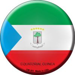 Equatorial Guinea Country Wholesale Novelty Metal Mini Circle Magnet CM-261