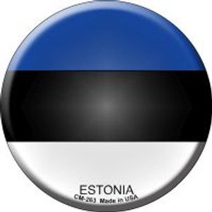 Estonia Country Wholesale Novelty Metal Mini Circle Magnet CM-263