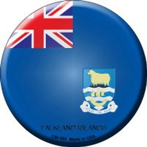 Falkland Islands Country Wholesale Novelty Metal Mini Circle Magnet CM-265