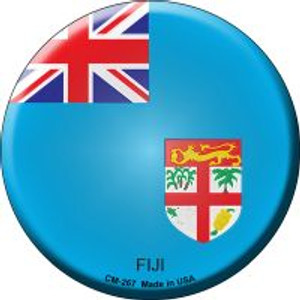Fiji Country Wholesale Novelty Metal Mini Circle Magnet CM-267