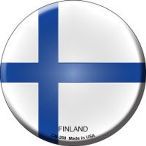 Finland Country Wholesale Novelty Metal Mini Circle Magnet CM-268
